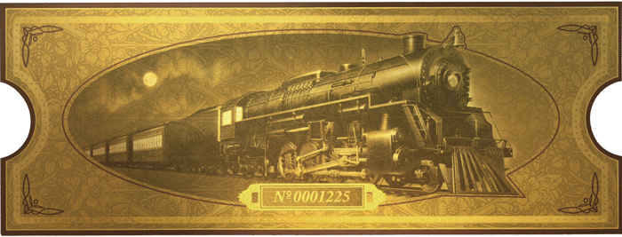 All aboard voicebooster for Polar express golden ticket template